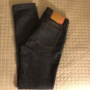 Acne Studios North Raw Indigo Skinny Jeans